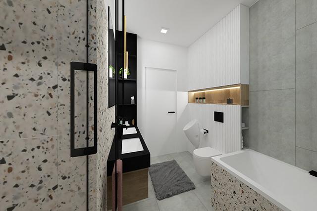 Łazienka I - wizualizacja 2