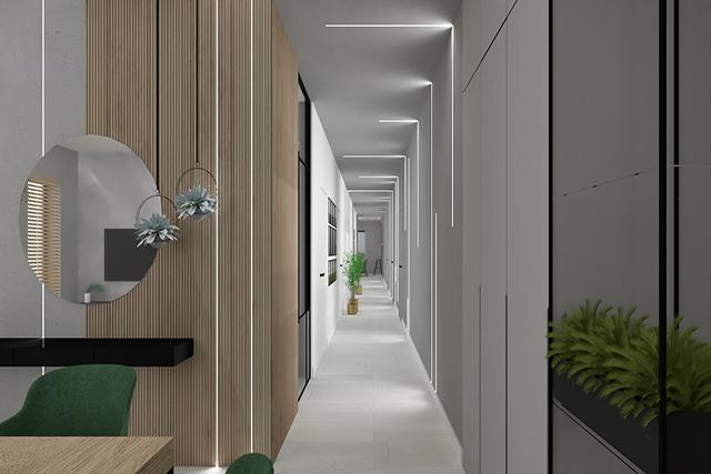 Hall - zielony - wizualizacja 1