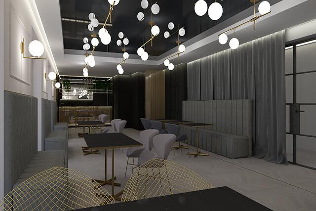 Restauracja - wersja beż - wizualizacja 1