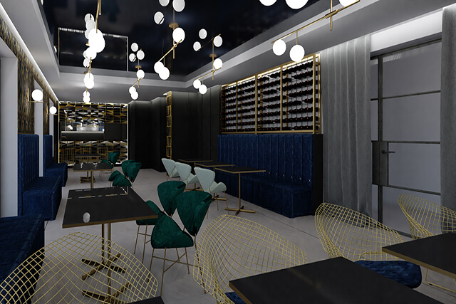 Restauracja - wersja kolor - wizualizacja 1